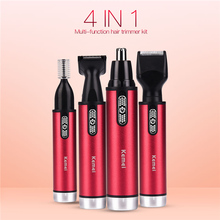 Electric Nose Hair Trimmer 4 in 1 Safe Face Care Shaving Tri