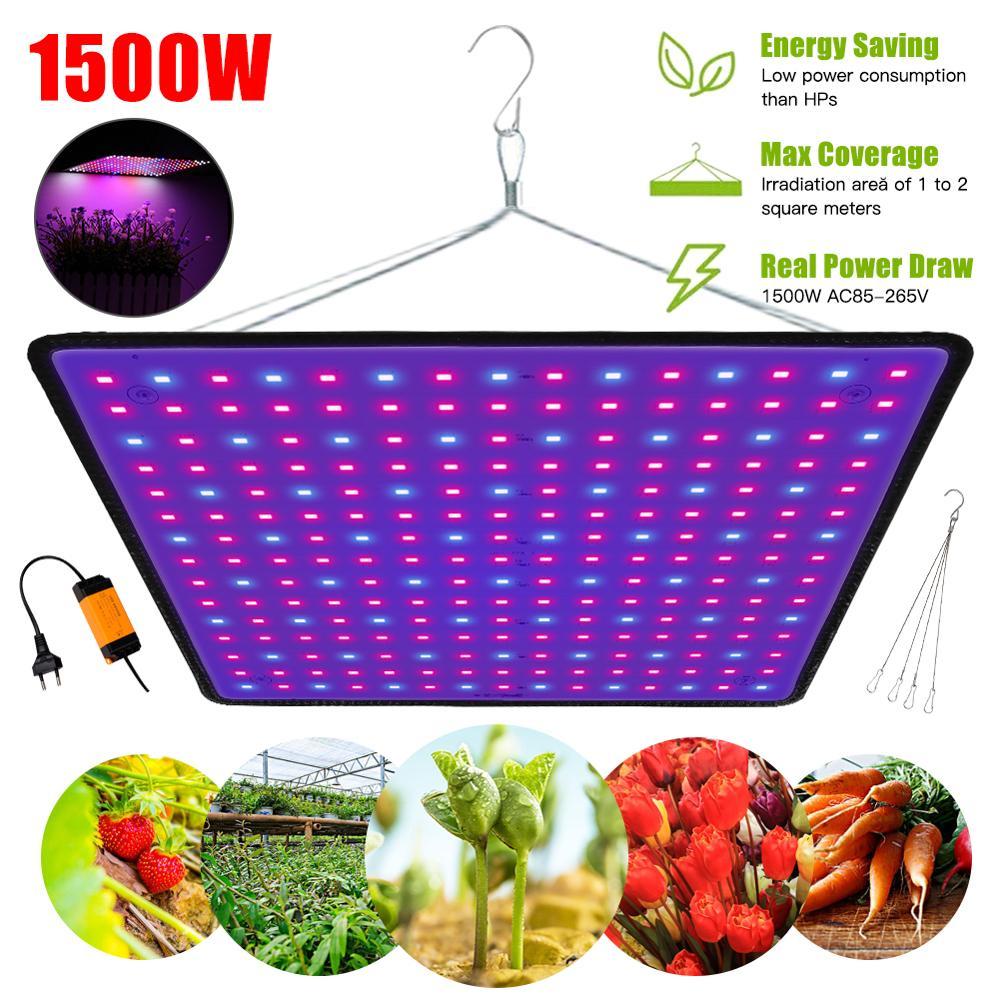 Lámpara de crecimiento LED de 1500W para plantas, luz de cultivo que combina con el espectro completo, lámpara Fitolampy, luz de hierbas para interior, para cultivo en invernadero
