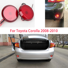 stop signal for cars reflective LED Rear Bumper Reflector Lights lamps Brake Stop Light for Nissan/Qashqai/for Toyota/Corolla 6 8 cm car led tail rear bumper reflector lights round reflective brake stop light lamp for toyota corolla x trail motor truck