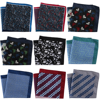 30CM Width Luxury Men Pocket Squares Large Men's Handkerchief Men Floral Paisley Scarf Pocket Hankies Chest Towel Wedding Party
