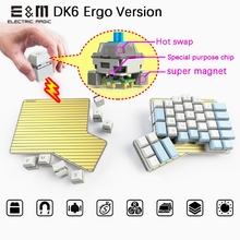 Key-Programmable Mechanical-Keyboard Ergo Movable DK6 Games Kaih-Box-Switch MX Magnetic