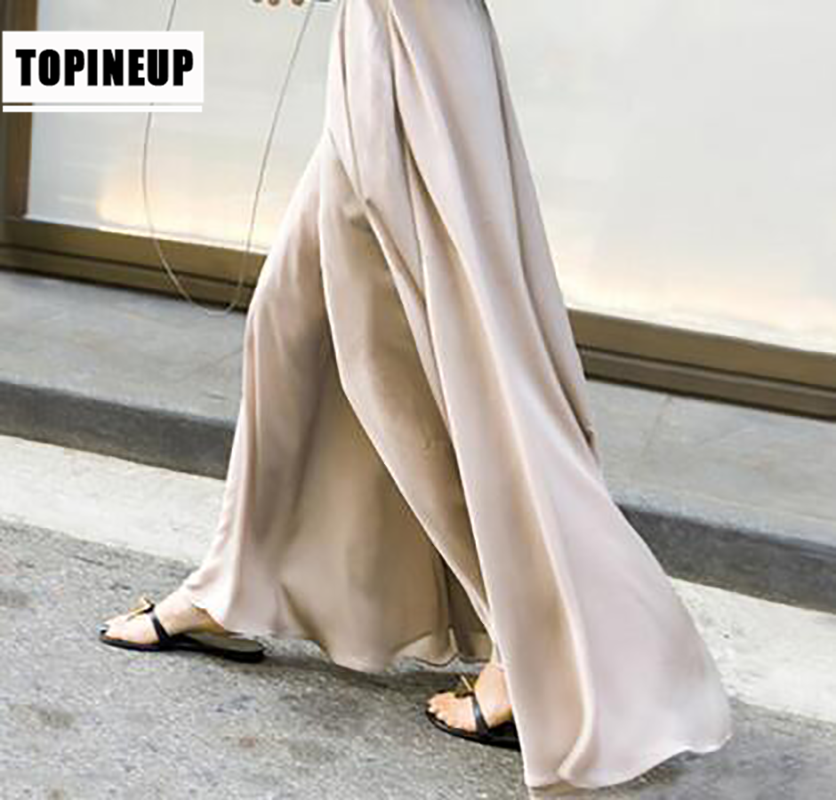 Women's  High Waist Maxi Long Chiffon Palazzo Pants Skirts Plus Size Wide Leg Women Summer Trousers