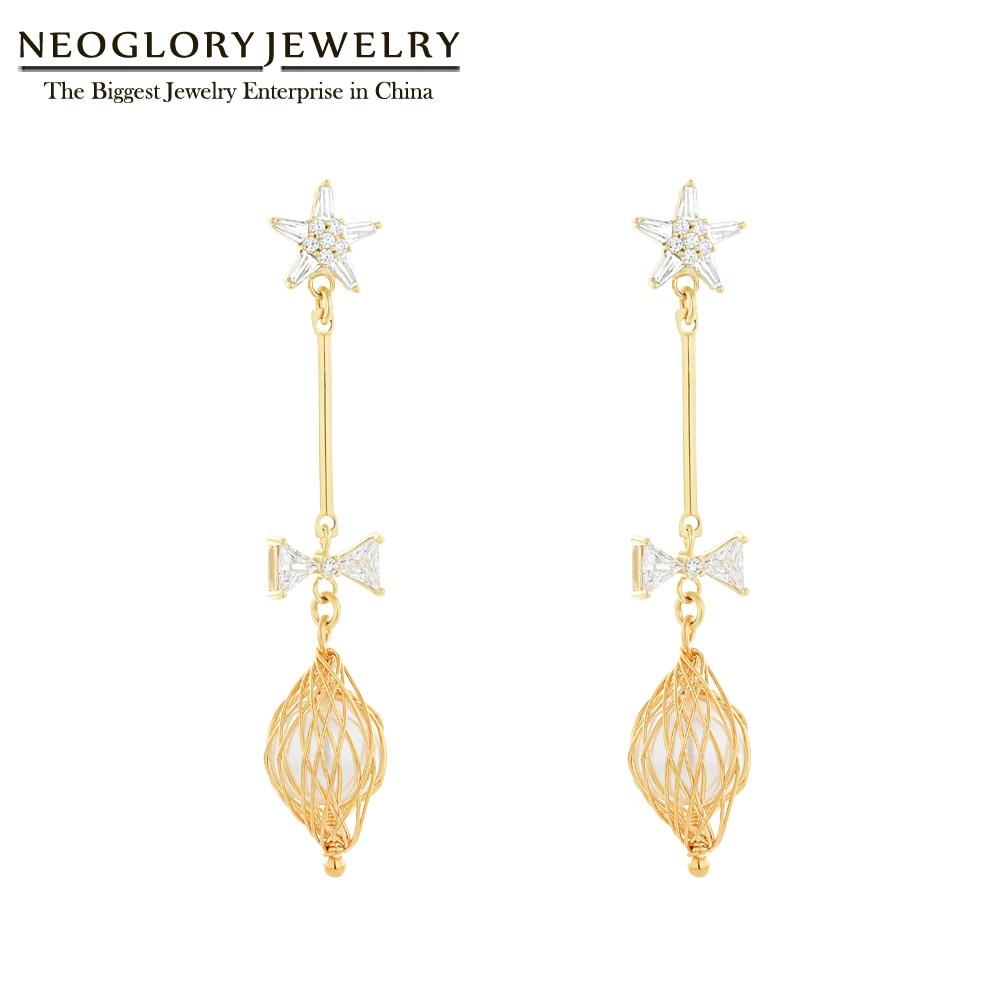 Yellow shell charm 7 cm drop chain hook earrings