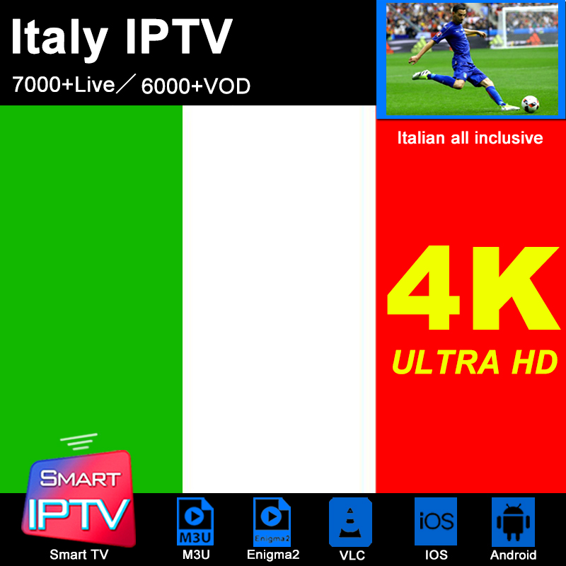 Italy IPTV Subscription M3u Abonnement IPTV Spain France America Germany Portugal Android Samsung Smart TV LG MAG Box Enigma2 PC