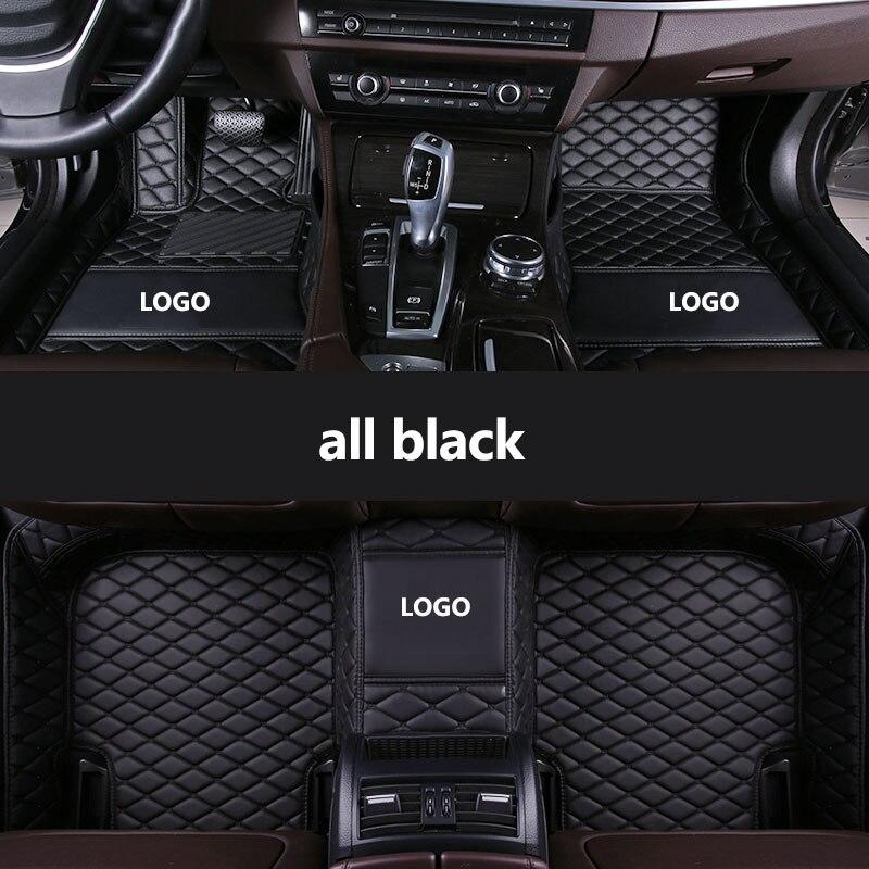 Kalaisike esteiras do assoalho do carro para Audi todos os modelos de LOGOTIPO Personalizado A1 A3 A8 A7 A4 A5 S5 S6 S7 S8 R8 Q7 S3 TT SQ5 A6 Q3 Q5 SR4-7 car styling
