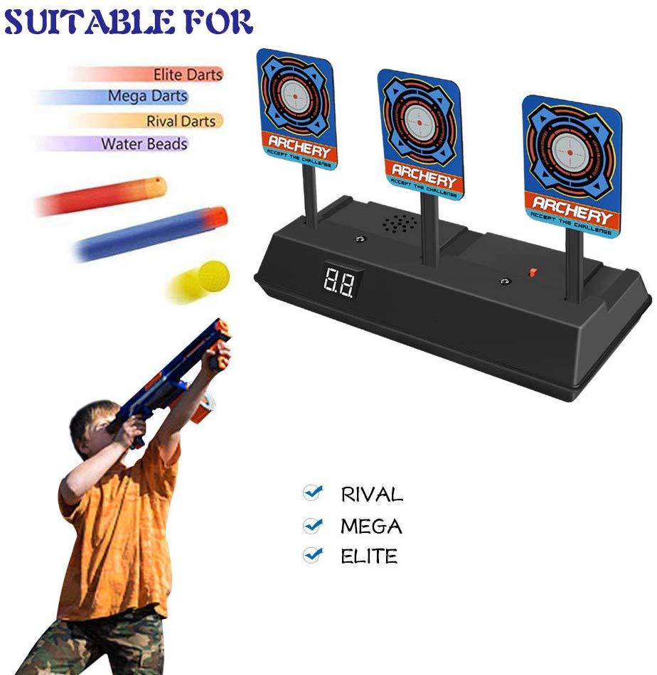 Auto-Reset Intelligent Light Sound Effect Scoring Electronic Digital Target Toys