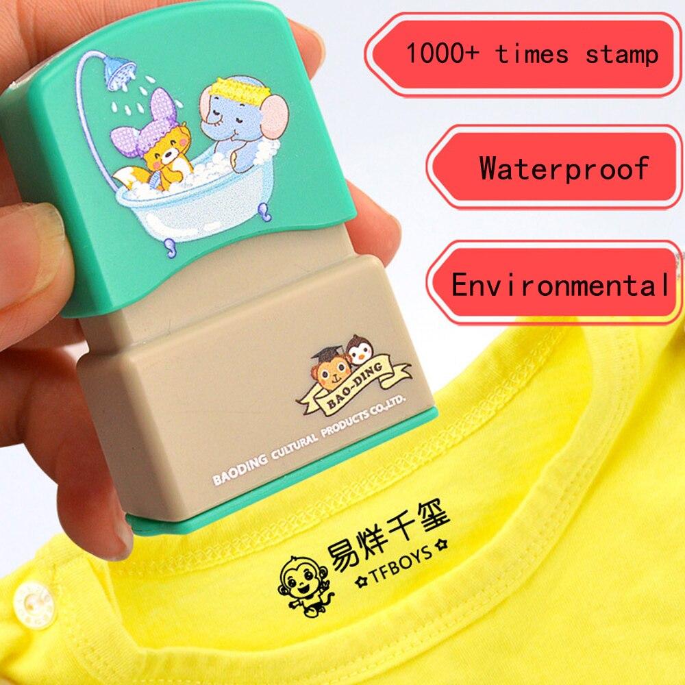 Индивидуальные штамп с именем краски личный студент ребенок выгравированы водонепроницаемый не выцветает детский сад мультфильм одежда и...