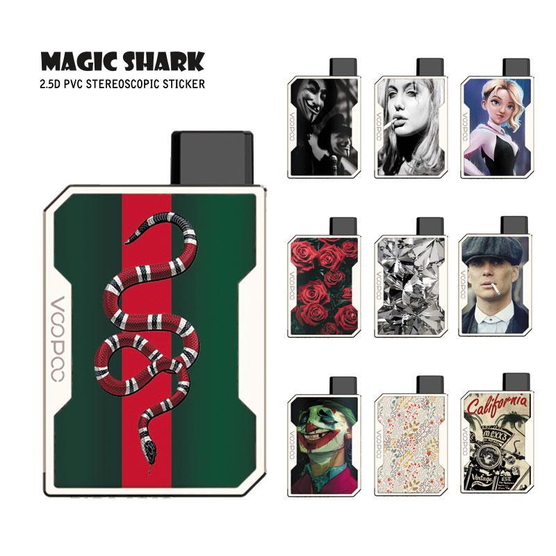 Magic Shark V-Vendetta Flower Joker Rose Crystal Print Case Skin Back Film Sticker For Voopoo Drag Nano