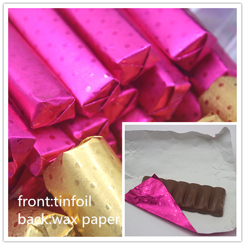 Food Aluminum Foil DIY Chocolate Candy Package Paper Composite Tin Foil Paper Lolly Foil Wrappers Square 8colours 100pcs/lot