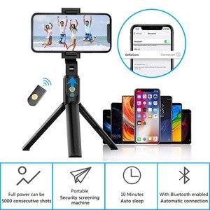 Image 4 - Xiletu 3 In 1 Draadloze Bluetooth Selfie Stick Opvouwbare Mini Statief Uitbreidbaar Monopod Met Afstandsbediening Voor Iphone Ios Android
