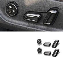 6pcs ABS Car Seat Adjustment Knob Button Switch Cover Trim Decoration Chrome Strip For Audi A3 A4L A6L Q5 Q3 Q7