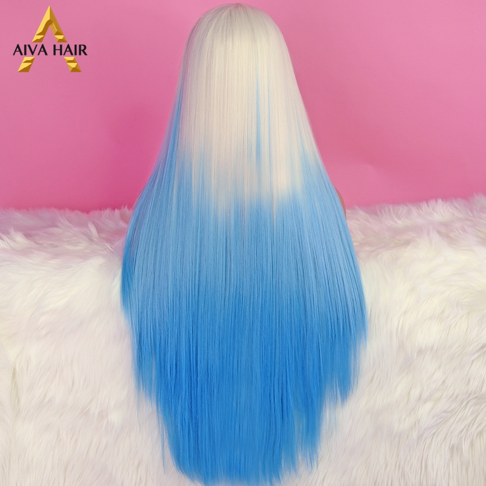 peruca ombre azul cosplay perucas para preto