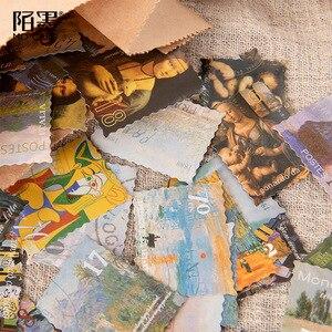 Image 5 - 20 zestawów/partia Kawaii papiernicze naklejki słynny obraz album dekoracyjne naklejki na telefon Scrapbooking DIY naklejka rzemieślnicza