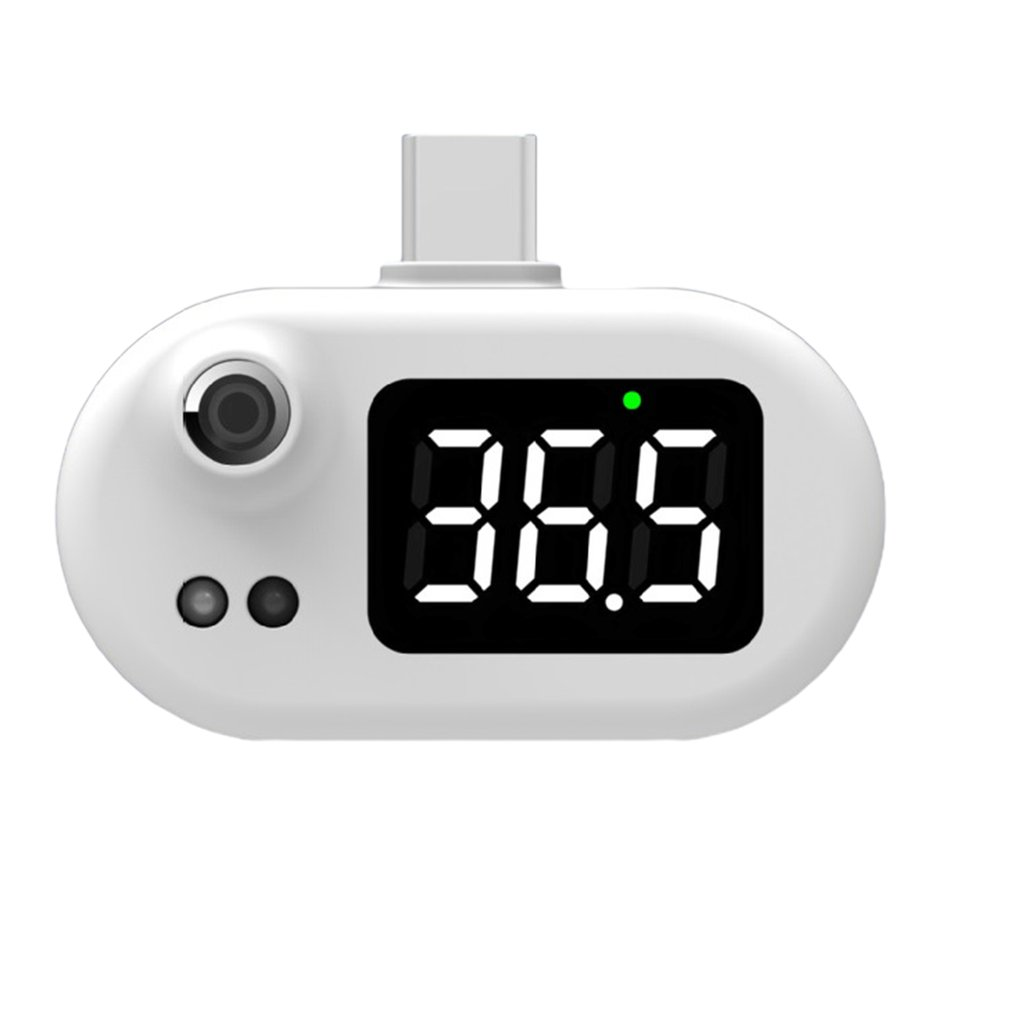 Free shiping Usb Intelligent Mini Mobile Phone Thermometer Health Care Convenient Infrared Electronic Digital Thermometer
