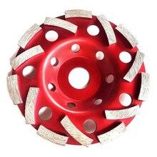125 мм Алмазный шлифовальный диск двойной Турбо абразивов, бетонных инструмент точильщика колеса вырезывания Меля колеса чашки