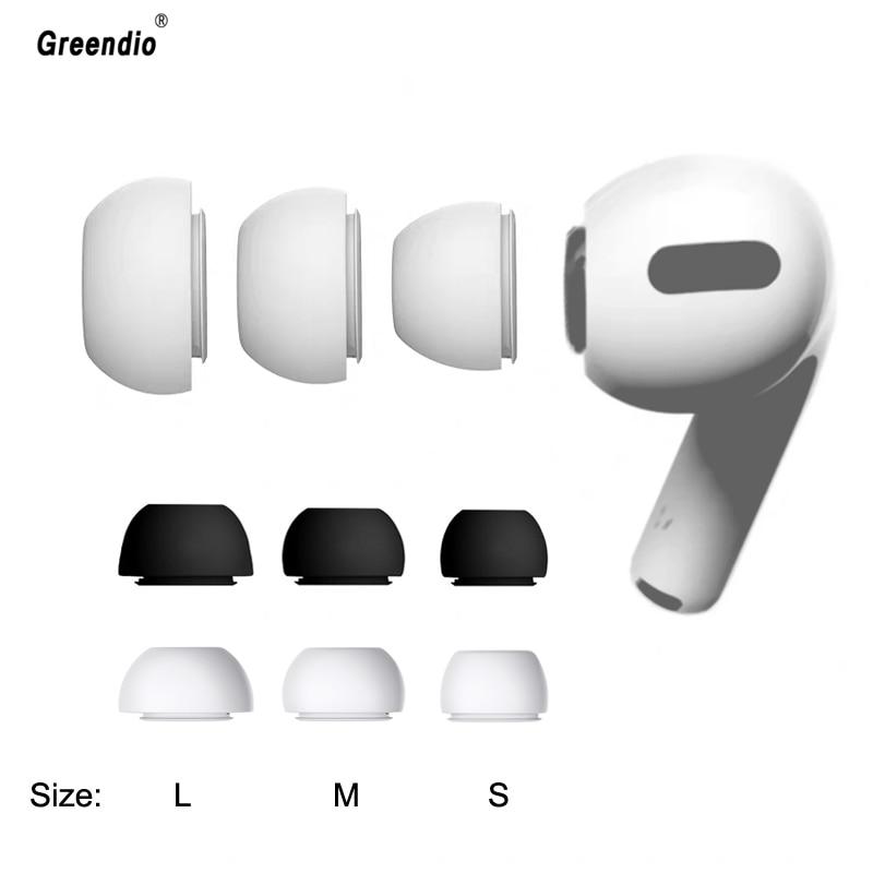 Embouts en Silicone souple pour écouteurs Apple Airpods Pro, 3 pièces, taille L M S