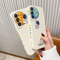 Custodia per telefono Planet Astronaut per Samsung Galaxy S21 S20 FE S10 nota 20 10 Ultra Plus A72 A52 A42 A32 A71 A51 A41 A31 A21S Cover