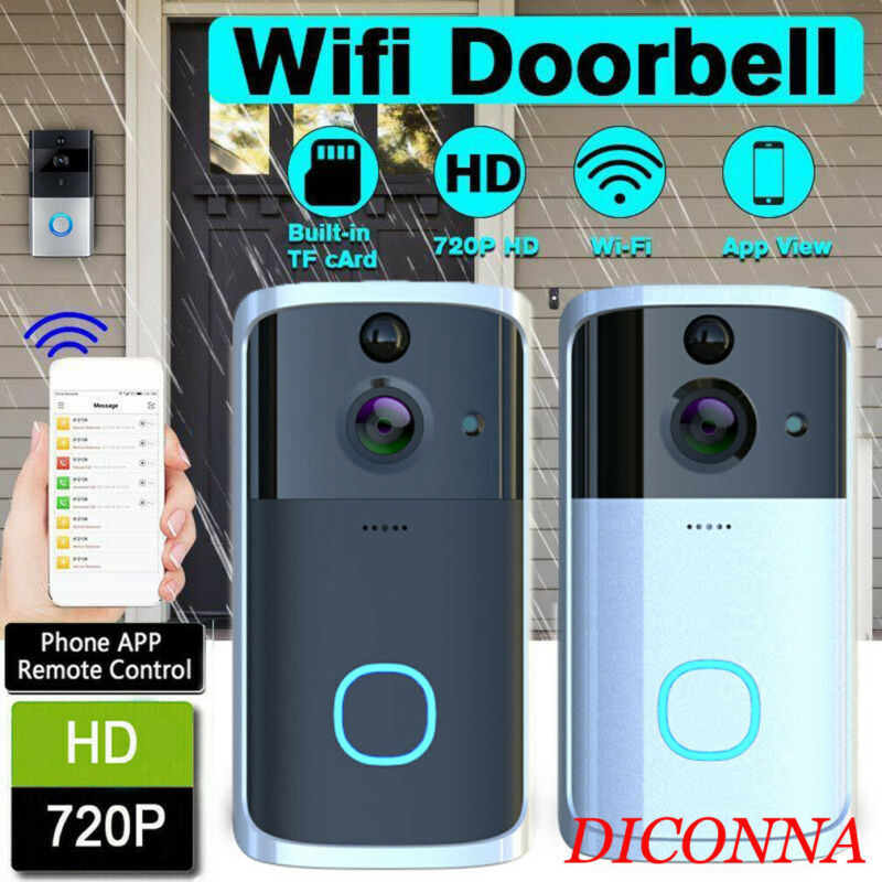 WiFi Wireless Video Doorbell Two-Way Talk Smart PIR Security Camera Recording Home Monitor Night Vision Intercom Door Bell