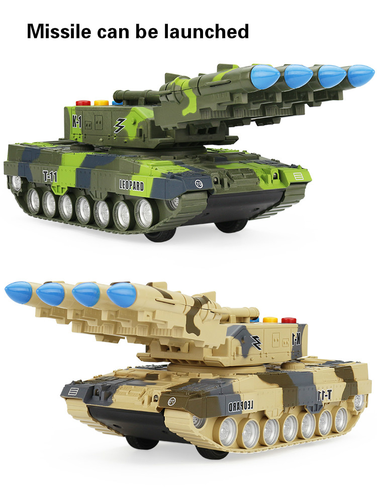Educational Gifts Soldiers Tank Toy Military Kids Plastic Model Collection War Cannon Rotated Free Shipping Missile Vehicle Army
