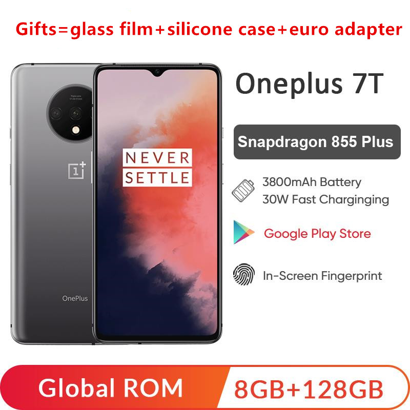 Global ROM OnePlus 7T 7 T 8GB 128GB Mobile Phone Snapdragon 855 Plus Octa Core 6.55'' Screen 48MP Triple Camera NFC Cellp(China)