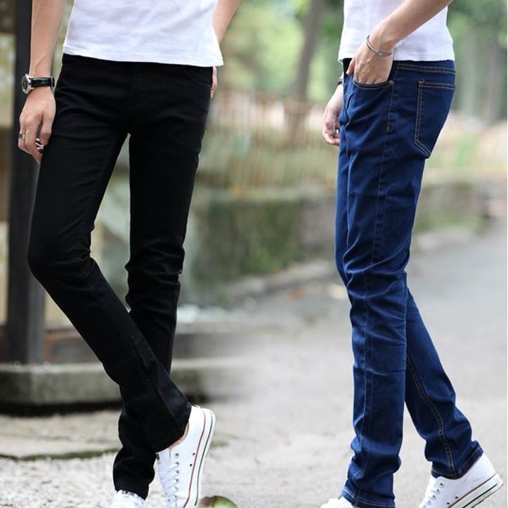 Summer New Products Jeans MEN'S Pants Men's Korean-style Fashion Youth Casual Slim Fit Elasticity Cheap Skinny Pants