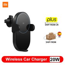 Xiaomi Car Charger Xiaomi 20W Wireless Car Charger Max Electric Auto Pinch 2.5D Glass Ring Lit For Wireless Charging