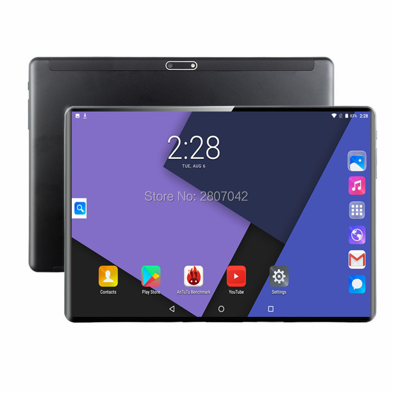 2019 nouveau 10 pouces tablette Pc Octa Core RAM 6G 64G tablettes Android 9.0 WiFi Bluetooth GPS 3G appel téléphonique double SIM 10.1 pouces tablette