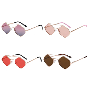 1PC Kids Irregular Sunglasses Outdoor ANTI-UV Eyewear Girls Eye Glasses Goggles Street Shooting Props Metal Frame Sunglasses Boy