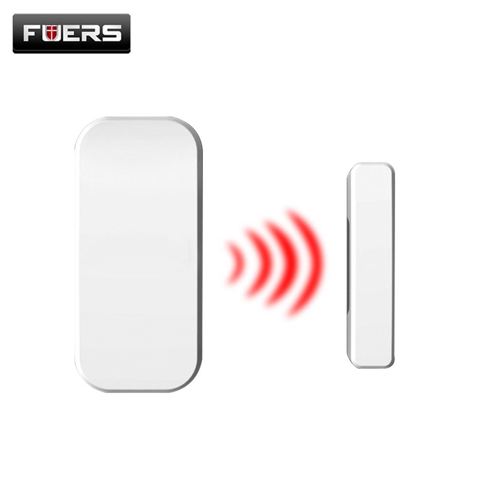 1pcs Wireless Home Door Window Burglar Safety Magnetic Sensor 433MHz Door Detector For KERUI Home Office Security ALARM System