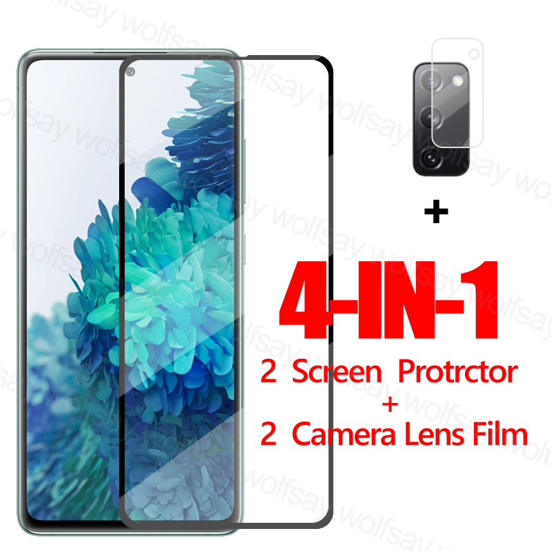 2.5D Full Glue Glass For Samsung Galaxy S20 Fan Edition Screen Protector Tempered Glass For Samsung S20 Fan Edition Phone Film