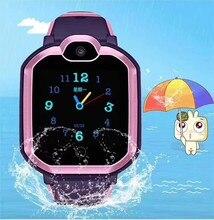 Dzieci Tracker inteligentny zegarek wodoodporny IP67 LBS pozycja SOS zadzwoń zegarek aparat IOS telefon z systemem Android dzieci inteligentny zegar prezent E18