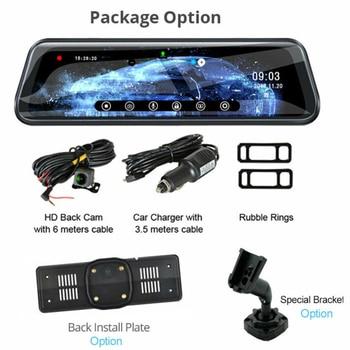 10 Inch HD 1080P Car DVR Dual Lens Camera Rearview Mirror Dash Cam Auto Recorder Rear View Camera