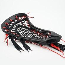 Женский черный Лакросс головной убор Универсальный уличный школьный Спортивный сетчатый нейлоновый карман Замена