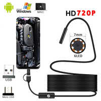 1M 1.5M 2M 3.5M 5M Mini 5.5mm Endoscope 720P 360 Camera Waterproof Portable Inspection Borescope Camera For Android Mobile Phone
