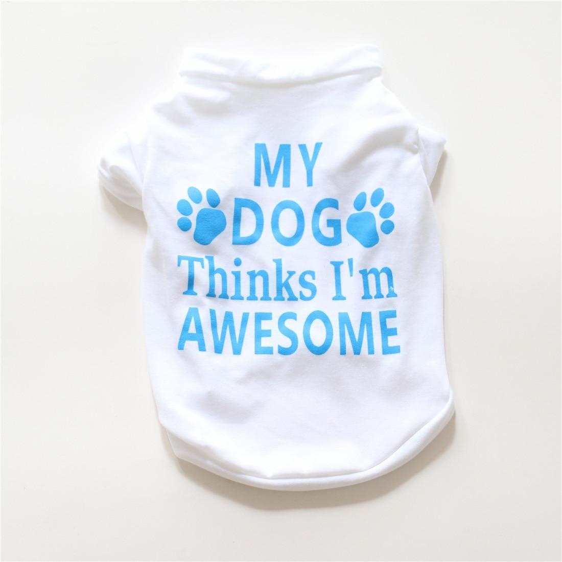 Футболка для домашних животных, удобная дышащая одежда для собак-питомцев, жилет, футболка, одежда для собак, кошек, летние рубашки, повседневные жилеты для чихуахуа - Цвет: white