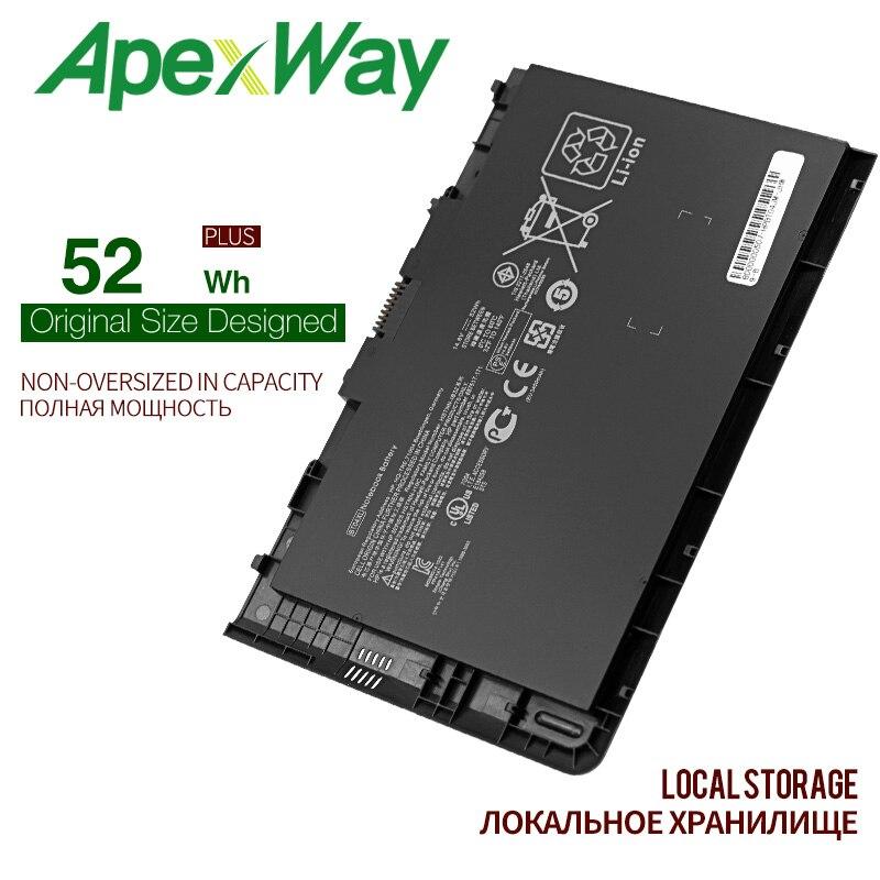 Bateria do portátil de apexway 14.8v 52wh para hp elitebook folio 9470 9470 m series HSTNN-IB3Z HSTNN-I10C bt04xl ba06 687517-1c1
