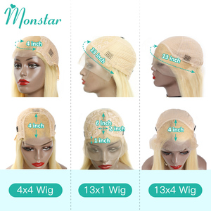 Image 3 - 4x4 Closure Wig 13x4 13x6 613 Honey Blonde Brazilian Wig Remy Hair Body Wave Wig Glueless Lace Front Human Hair Wigs for Women