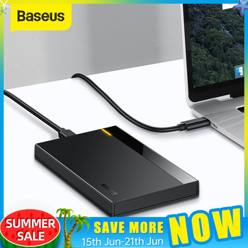 Baseus Caso HDD 2.5 SATA a USB 3.0 Adattatore Hard Disk Caso BOX E ALLOGGIAMENTI PER HDD Per SSD CASO di Tipo C 3.1 HDD box HD Esterno HDD Caddy 1