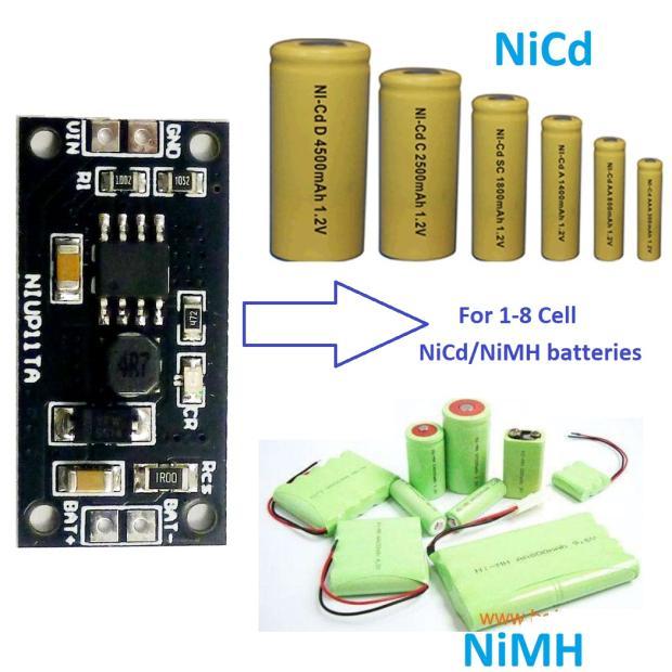 1 S-8 S NiMH NiCd แบตเตอรี่เครื่องชาร์จเฉพาะโมดูลชาร์จ 2S 3S 4S 5S 6S 7S 1.2V 2.4V 3.6V 4.8V 6V 7.2V 8.4V 9.6V