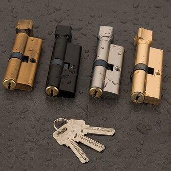 Дверной цилиндрический замок предвзятый 70 мм 3 ключа противокражный вход латунный AB дверной замок Домашняя безопасность Внутренний замок для спальни цилиндр