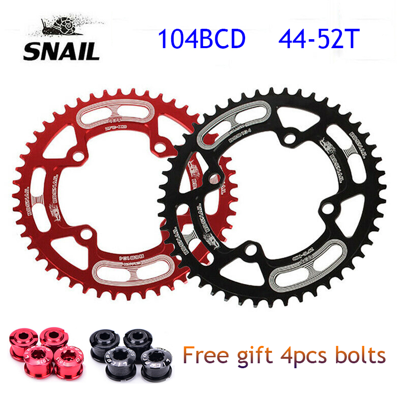 SNAIL MTB Road Bike Single Narrow Wide Oval Chainring Chain Ring Sprocket 104mm