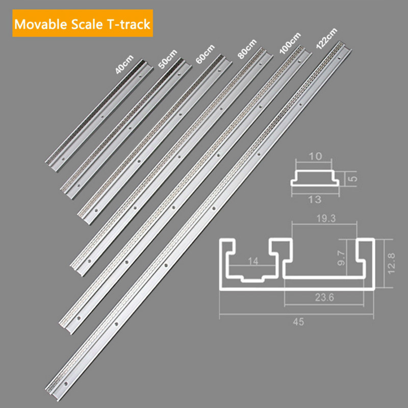 45 Type T Track With Scale Aluminium Alloy T-tracks Slot