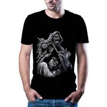 2020 masculino engraçado t-camisa de impressão 3d de alta qualidade do estilo de rua do hip hop dos homens 80/90