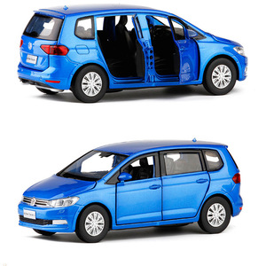 Image 4 - 1/32 Ratio Kids Toy Simulation VolkswageX Touran Toy Car Alloy Die casting Model Sound And Light Pull Back Toys Birthday Gift