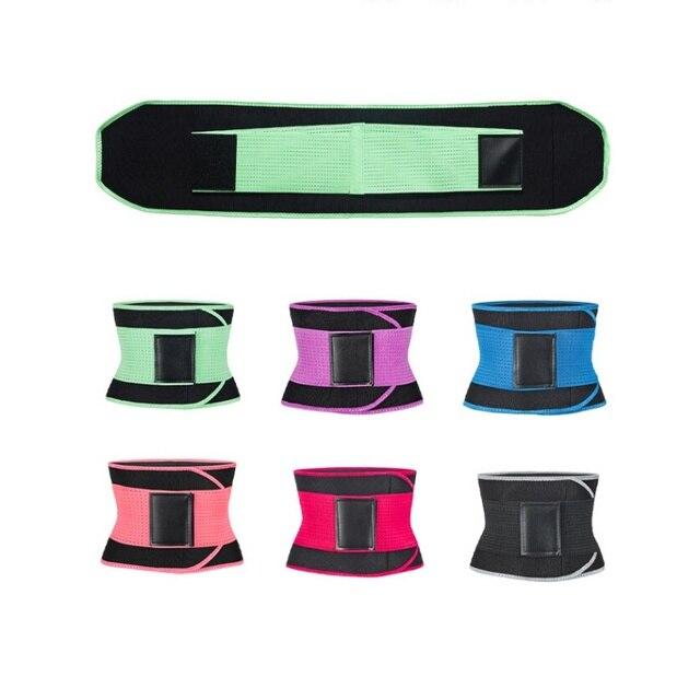 Men Women Fitness Waist Belt Waist Trimmer Belt Weight Loss Sweat Band Gym Training Weightlifting Tummy Slim Belts Body Shaper 4
