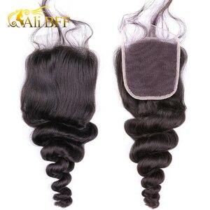 Image 5 - Свободные волнистые пучки с застежкой 4*4 6*6, бразильские плотные волосы с застежкой 180%, пупряди с париком на 4*4