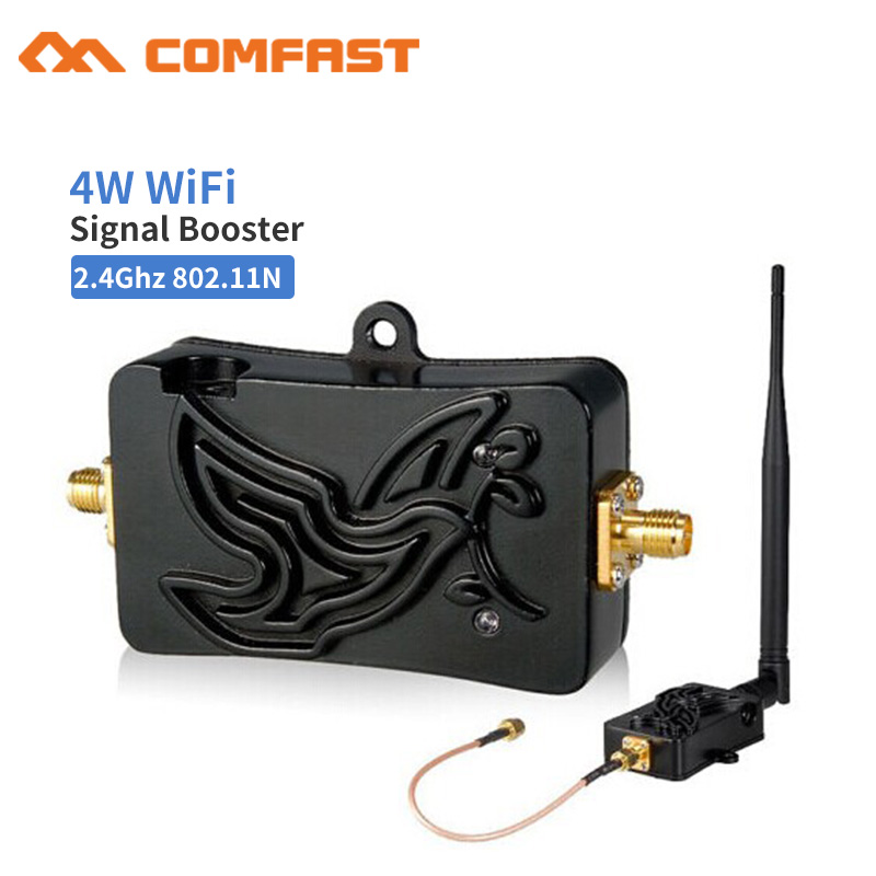 Quality 2.4GHZ 4W Wifi Wireless Broadband Amplifier WAN Router Bluetooth Power Range Signal Booster For Wifi Router