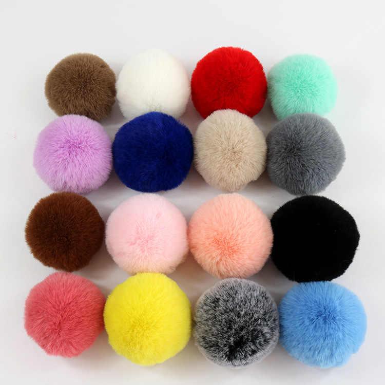 ใหญ่ขนาด 7-10 ซม.ขนาดใหญ่ขนสัตว์Pom Pom Pompoms Ballธรรมชาติขนสัตว์Pomponหมวกผ้าพันคอHandmade DIYเย็บหัตถกรรม