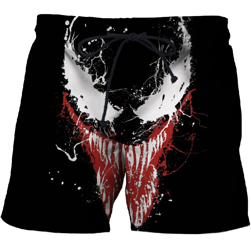 2019 Men Shorts 3d Printed Venom Shorts For Men Women Summer Beach Shorts Cool Short Trousers Comfortable Streetwear Unisex