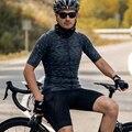 Santic, мужские майки для велоспорта, подходят, удобные, защита от солнца, дорожный велосипед, MTB, топ, Джерси, весна-осень, Майки M9C02152